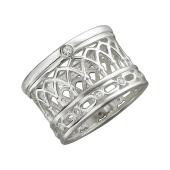 Кольцо Европа с фианитами, серебро