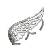 Кольцо Крыло с фианитами, серебро