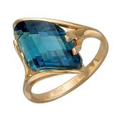 Кольцо с гранатом (морганитом), красное золото