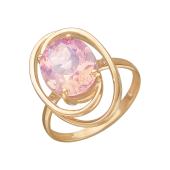 Кольцо с наноситалом Опал, красное золото