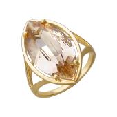 Кольцо Эволюция с наноситалом топаз, желтое золото