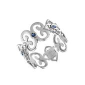 Кольцо Индия с наносапфиром, серебро