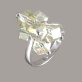Кольцо с лимонным хрусталем, серебро