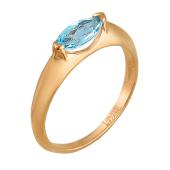 Кольцо Маркиза с топазом, красное золото