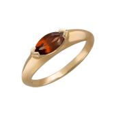 Кольцо с гранатом маркиз, красное золото