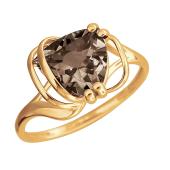 Кольцо с раухтопазом из красного золота 585 пробы