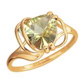 Кольцо с кварцем из красного золота 585 пробы