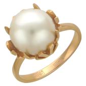 Кольцо с жемчугом, красное золото