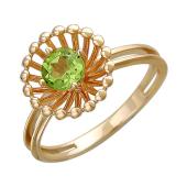 Кольцо Колибри с топазом (аметистом,гранатом, хризолитом), красное золото