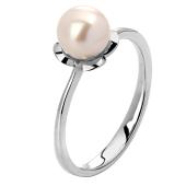 Кольцо с жемчугом из белого золота 585 пробы