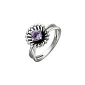 Кольцо Колибри с аметистом, серебро