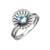 Кольцо Колибри с топазом, серебро
