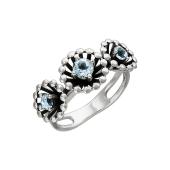 Кольцо Колибри с топазами, серебро