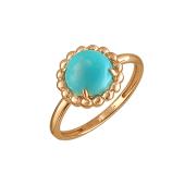 Кольцо с бирюзой, красное золото