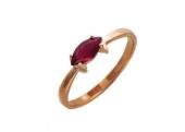 Кольцо с драгоценным камнем Маркиз, красное золото
