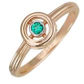 Кольцо с изумрудом из красного золота 585 пробы