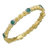 Кольцо Викс с изумрудами, желтое золото