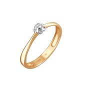 Кольцо с бриллиантом из красного золота пробы 585