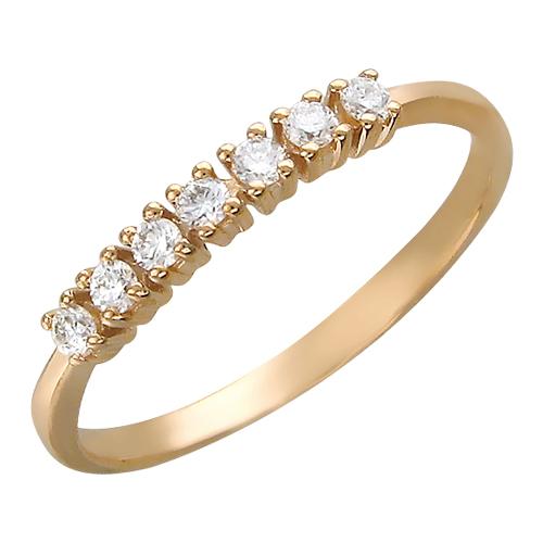 Кольцо Дорожка с бриллиантами (изумрудами, рубинами), красное золото