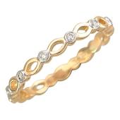 Кольцо ажурное с бриллиантами, красное золото