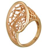 Кольцо Соблазн с бриллиантами, красное золото