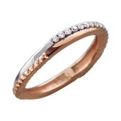 Кольцо с бриллиантами Дуэт, красное золото