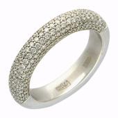 Кольцо Дорожка с бриллиантами, белое золото 585 проба