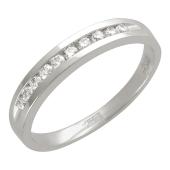 Кольцо с дорожкой бриллиантов, белое золото