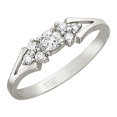 Кольцо Букет с бриллиантами, белое золото