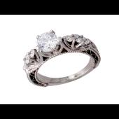 Кольцо Роскошное с бриллиантами, белое золото