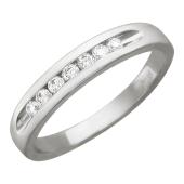 Кольцо Дорожка с бриллиантами, белое золото 3,5 мм