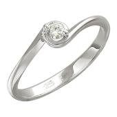 Кольцо для помолвки с бриллиантом, белое золото