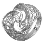 Кольцо Соблазн с бриллиантами, белое золото