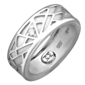 Кольцо Соблазн с бриллиантом, белое золото