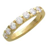 Кольцо Дорожка с бриллиантами, желтое золото