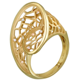 Кольцо Соблазн с бриллиантами, желтое золото