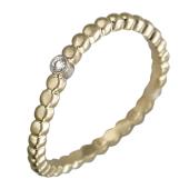 Кольцо Викс витое с бриллиантом, желтое золото