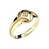 Кольцо с бриллиантом из желтого золота 585 пробы