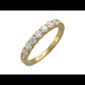 Кольцо Дорожка с бриллиантами, желтое золото 750 проба