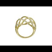 Кольцо с бриллиантами из желтого золота 750 пробы