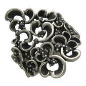 Кольцо Белая Тень с чёрными бриллиантами, серебро