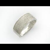 Кольцо Дорожка с бриллиантами, белое золото
