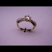Кольцо с бриллиантами из белого золота 585 пробы