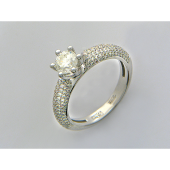 Кольцо для помолвки с бриллиантами, белое золото