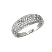 Кольцо с бриллиантами Шампань, белое золото 750 проба