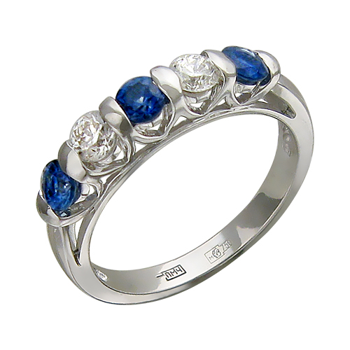 Кольцо с бриллиантами - купить Кольцо с бриллиантами, белый Золото 585, R625-D-RG028362W1, в