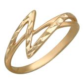 Красное золото, узкая шинка, узор зигзаг, алмазная огранка
