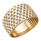Кольцо Корзинка с алмазной гранью, красное золото 585 пробы