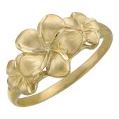 Кольцо Роскошные Цветы, желтое золото