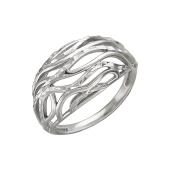 Кольцо с алмазными гранями из серебра